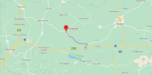 Временна организация на движението по път III-307 Угърчин-Микре, при 36 км.