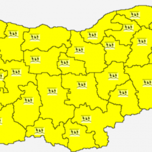 Жълт код за обилни валежи за 8 октомври