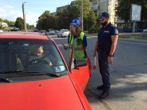 """Ученици и полицаи участваха в акцията """"Децата тръгват на училище! Да ги пазим на пътя!"""""""